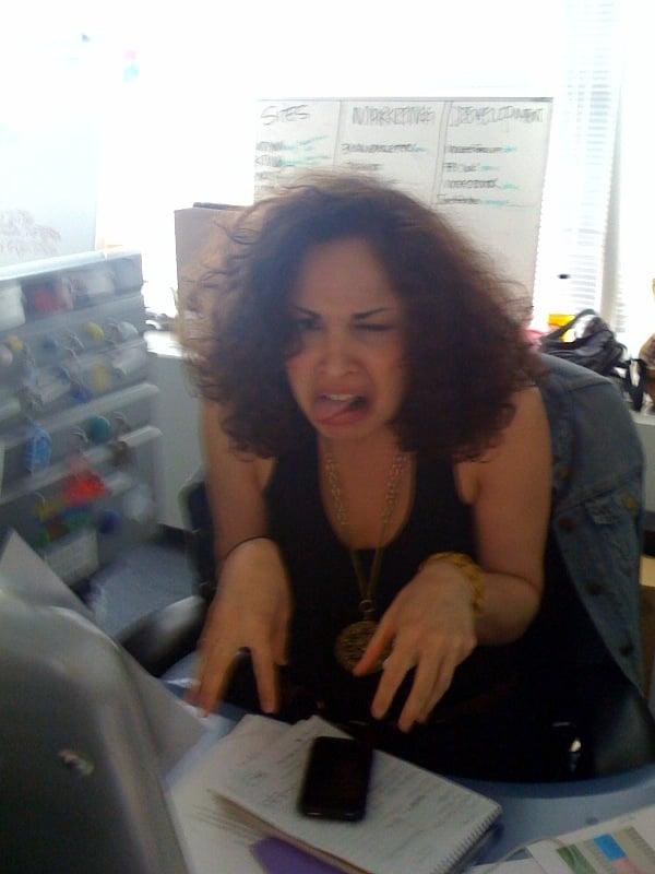 Danielle Eating A Sour Lemon