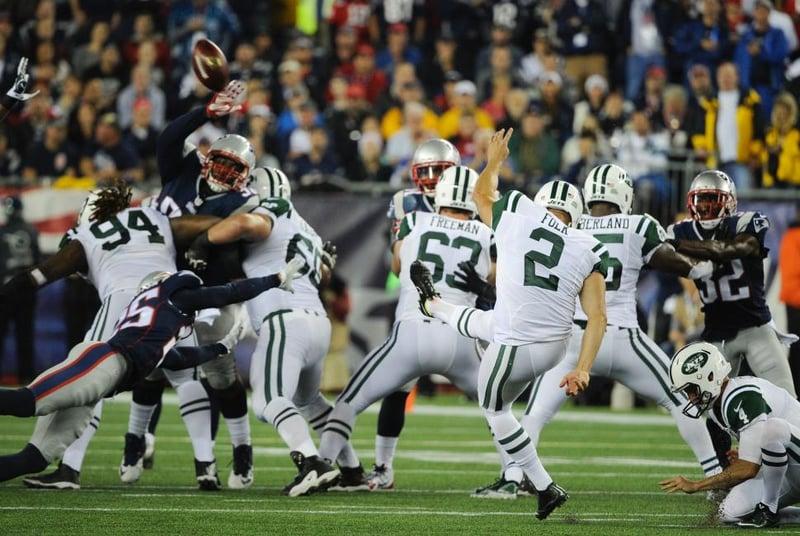 Chris Jones blocking Jets fg attempt